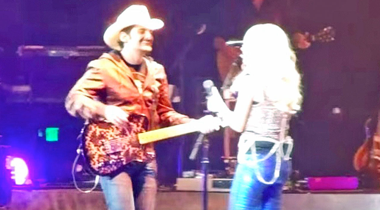Modern country Songs | Brad Paisley Surprises Carrie Underwood Mid-Performance, And The Crowd Goes Wild! | Country Music Videos