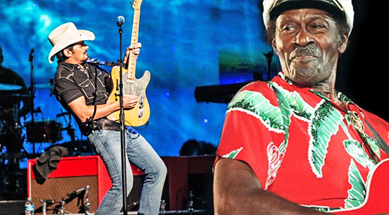 Modern country Songs | Brad Paisley Spontaneously Honors Chuck Berry With Killer 'Johnny B. Goode' Tribute | Country Music Videos