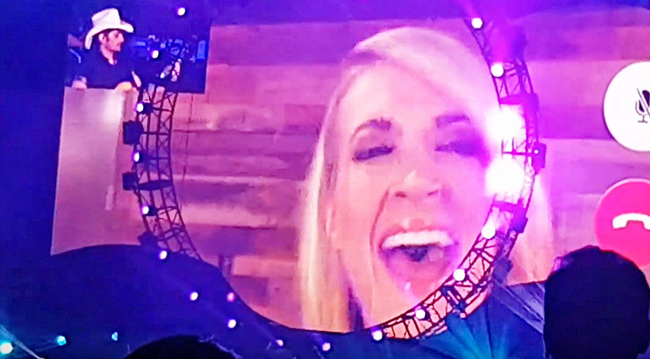 Modern country Songs | Brad Paisley Unexpectedly Facetimes Carrie Underwood At Concert For Killer 'Remind Me' Duet | Country Music Videos