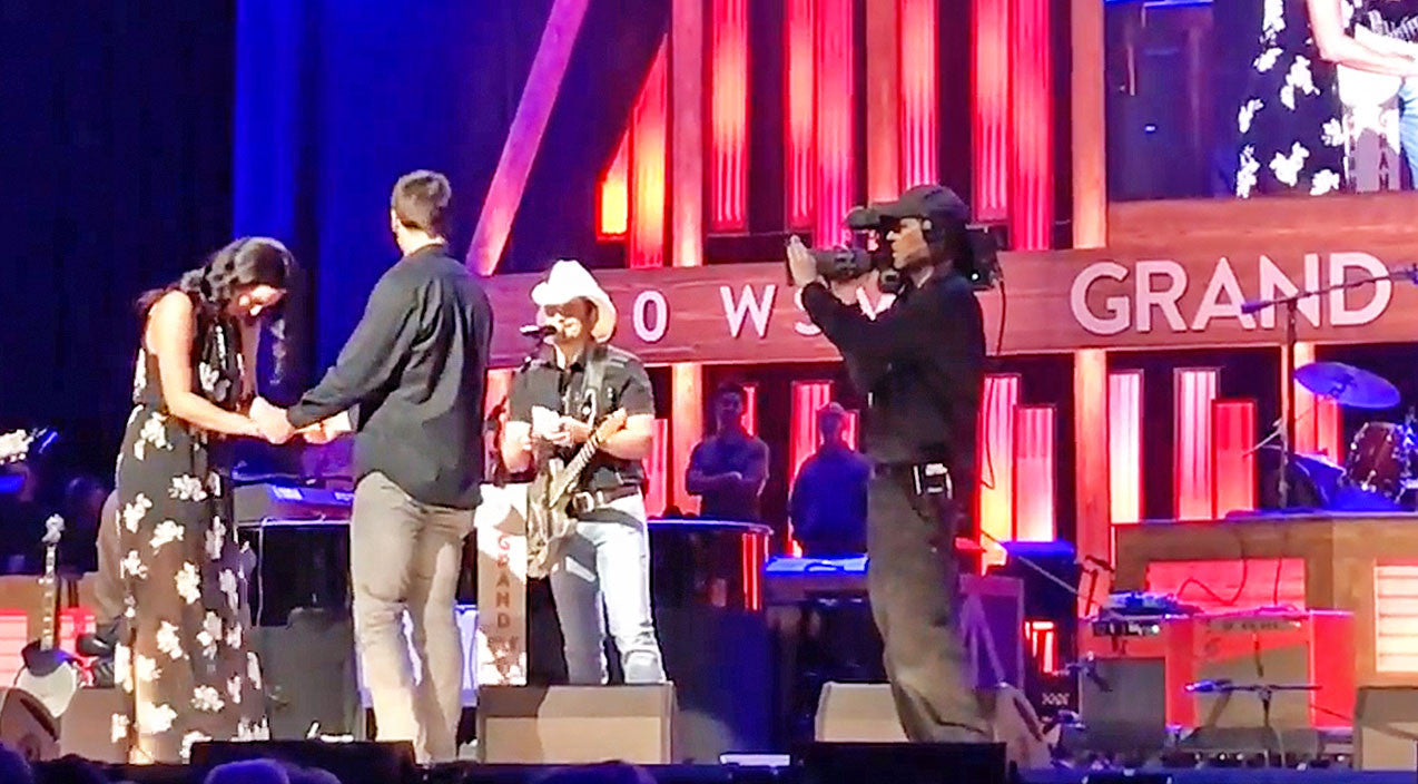 Modern country Songs | Brad Paisley Surprises Woman With Onstage Proposal | Country Music Videos