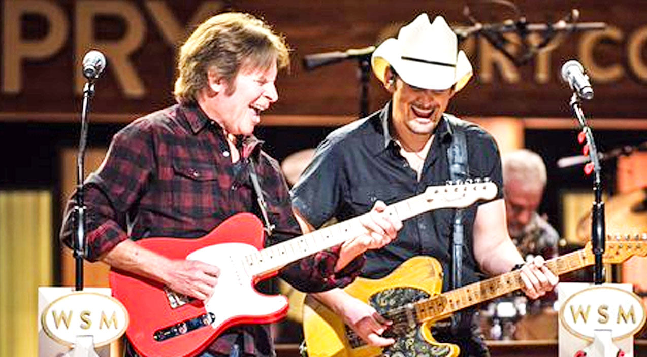 John fogerty Songs | Rock Legend John Fogerty Joins Brad Paisley For Electrifying 'Proud Mary' Performance | Country Music Videos