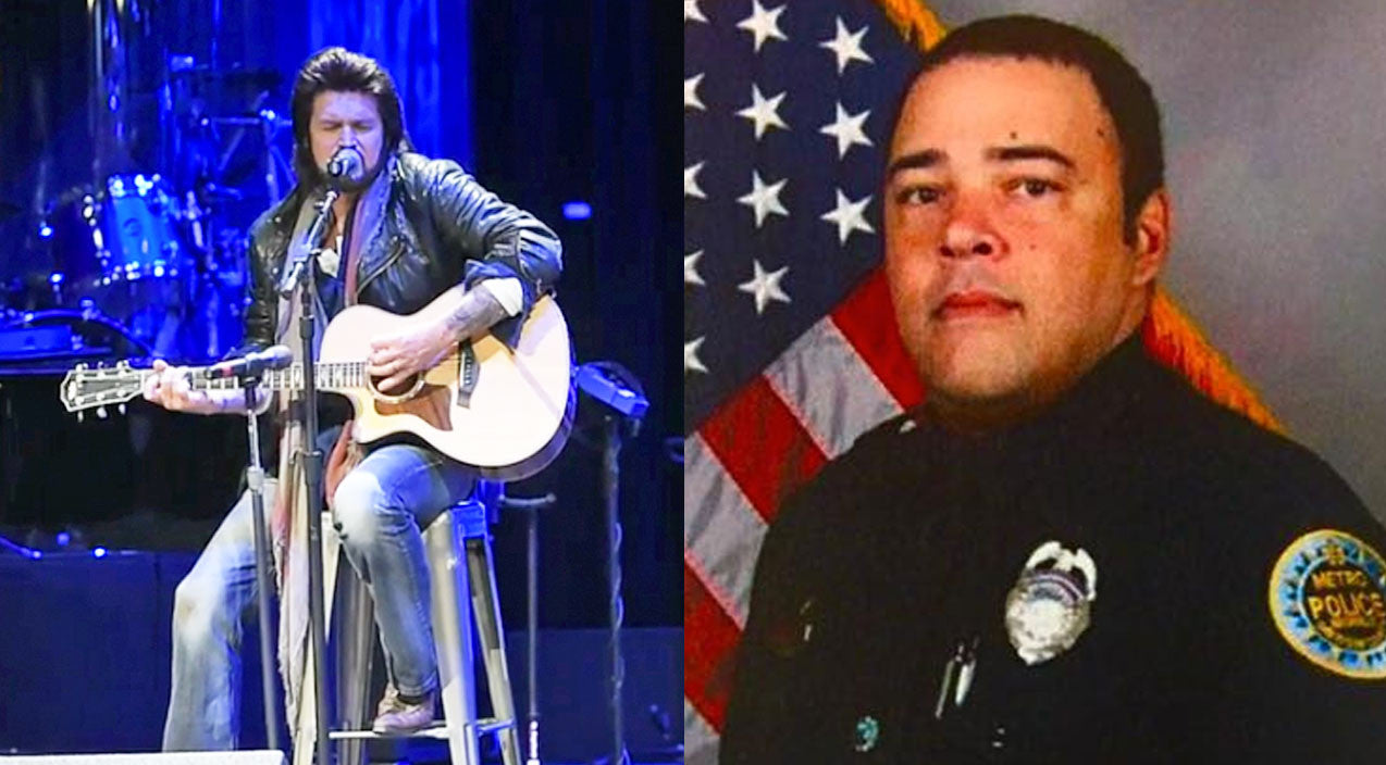Billy ray cyrus Songs | Billy Ray Cyrus Performs 'Some Gave All' At Fallen Nashville Police Officer's Funeral | Country Music Videos