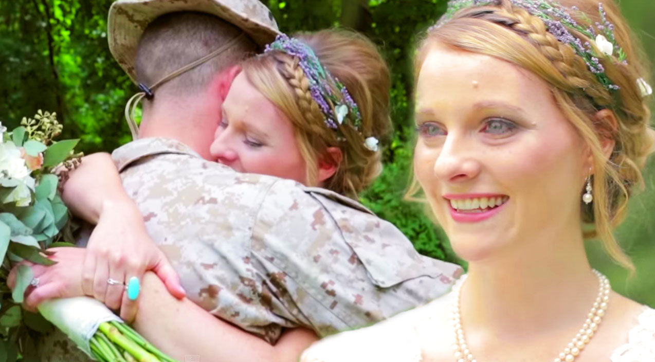 Military Songs | On Her Wedding Day, This Beautiful Bride Gets The Surprise Of Her Life! (VIRAL Tear-Jerker!) | Country Music Videos