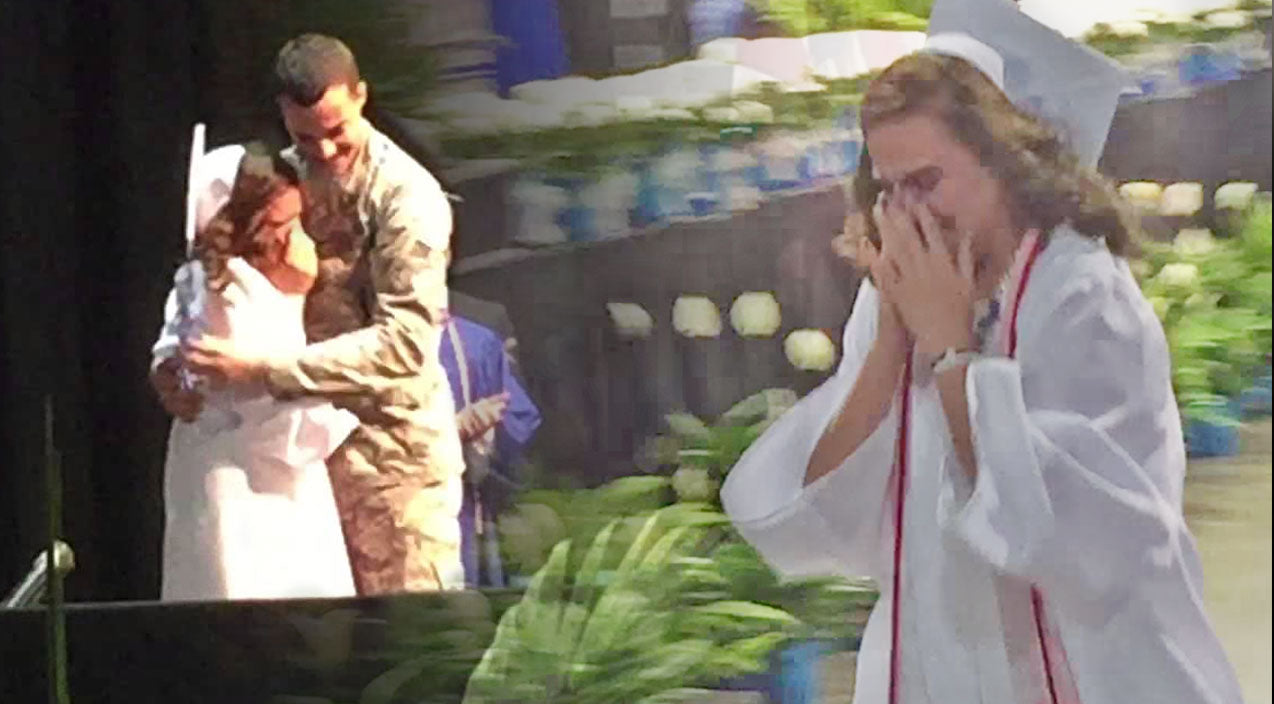 Military Songs | She Never Expected To See This Guest Speaker At Her Graduation (Tear-Jerker!) (VIDEO) | Country Music Videos