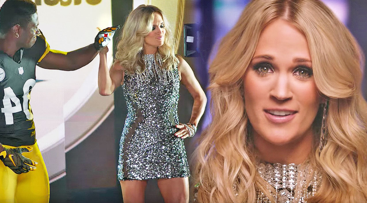 Football Songs | Behind The Scenes Look at Carrie Underwood's New 'Sunday Night Football' Opening Video | Country Music Videos