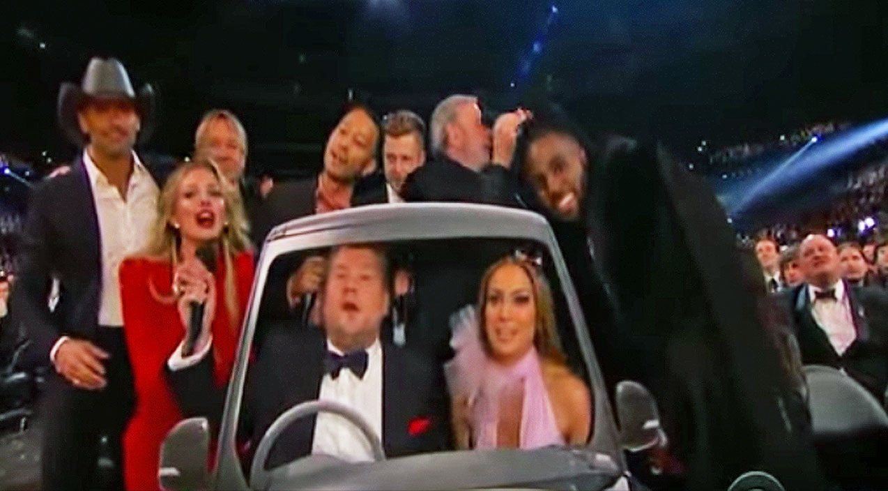 Tim mcgraw Songs | Country Singers Join Carpool Karaoke Amidst Unsuspecting Grammy Audience | Country Music Videos