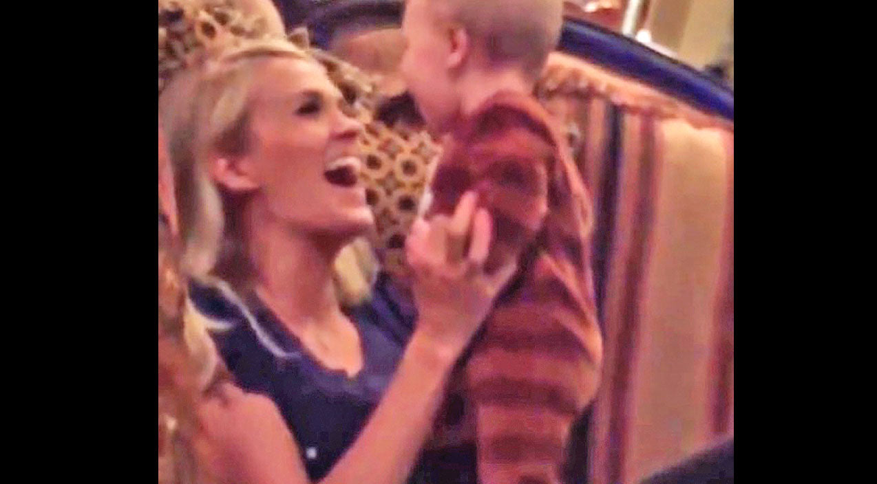Modern country Songs | Carrie Underwood Gets Kisses From Baby Isaiah, And It's Too Cute For Words! | Country Music Videos