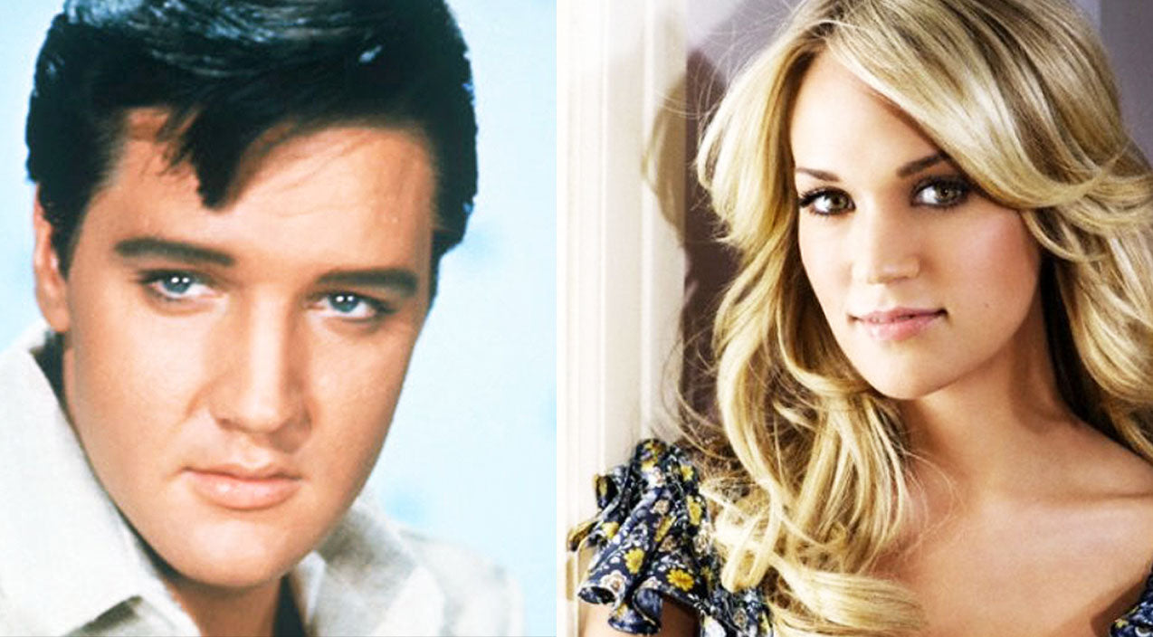 Modern country Songs   Carrie Underwood's Voice Joins Elvis For A Heart-Stopping 'I'll Be Home For Christmas' Duet   Country Music Videos