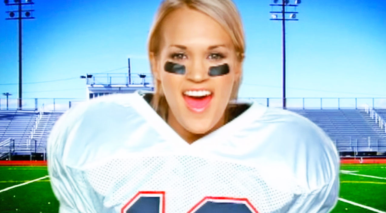 Modern country Songs | Watch Carrie Underwood Hilariously Attempt To Punt Footballs | Country Music Videos