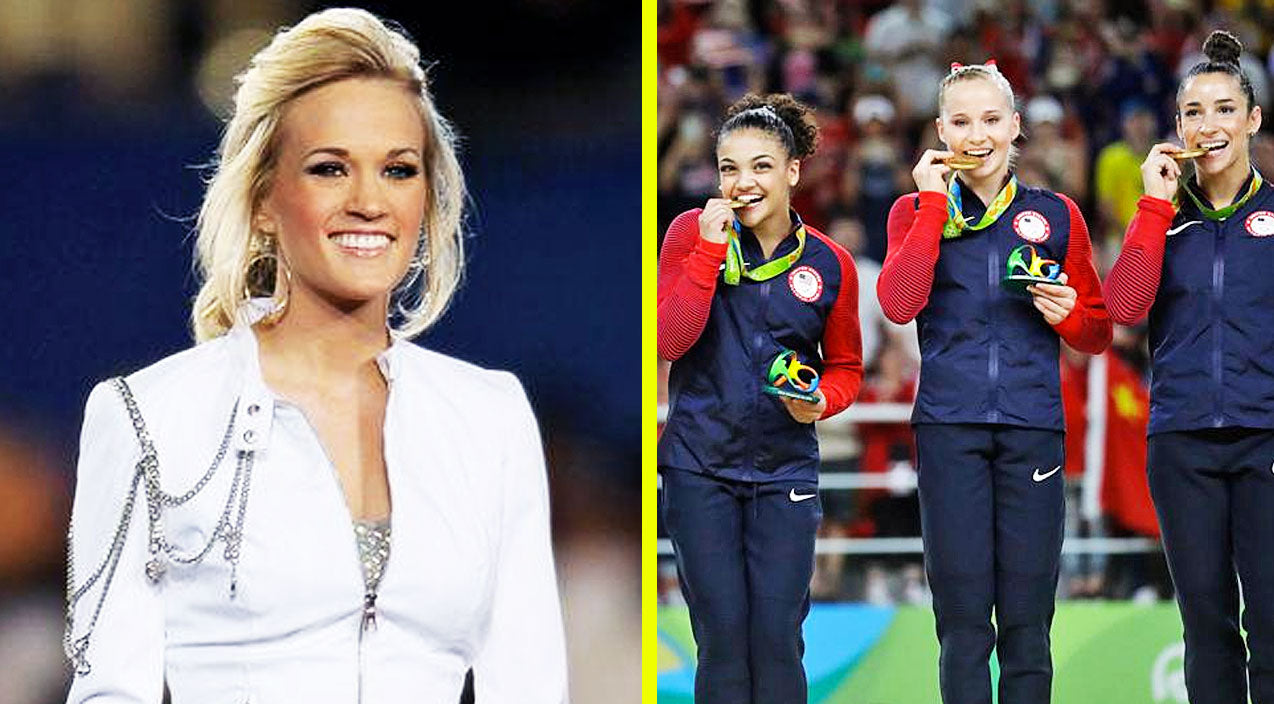 Modern country Songs | Which Of The 'Final Five' Olympic Gymnasts Is A Huge Carrie Underwood Fan? | Country Music Videos