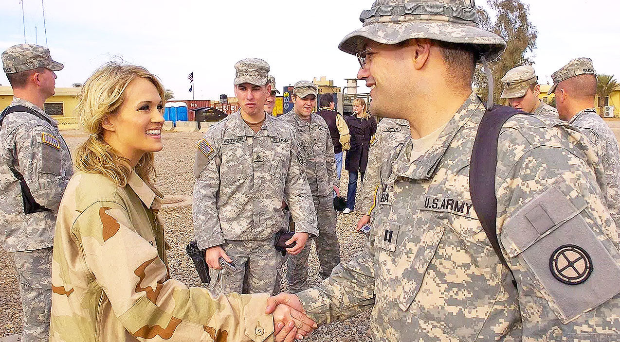Carrie underwood Songs   Carrie Underwood Gives Back To Military Families   Country Music Videos