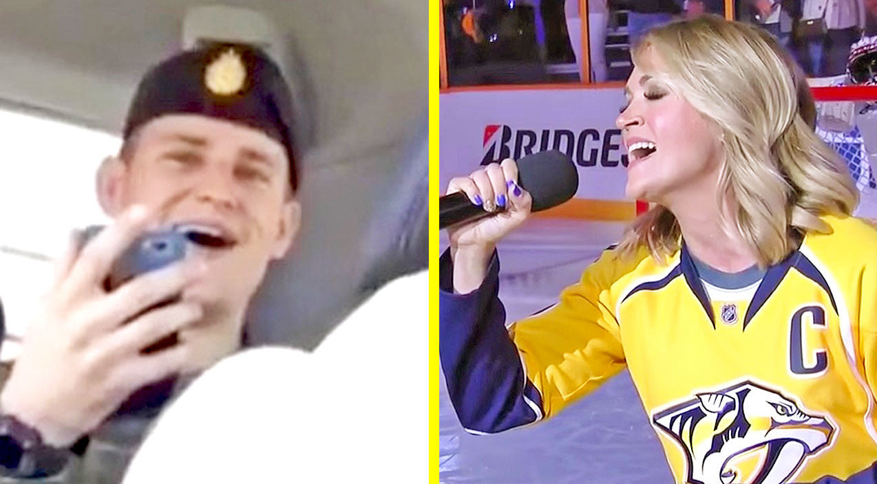 Modern country Songs | Soldiers Listen To Carrie Underwood's National Anthem...Their Response Is Priceless | Country Music Videos