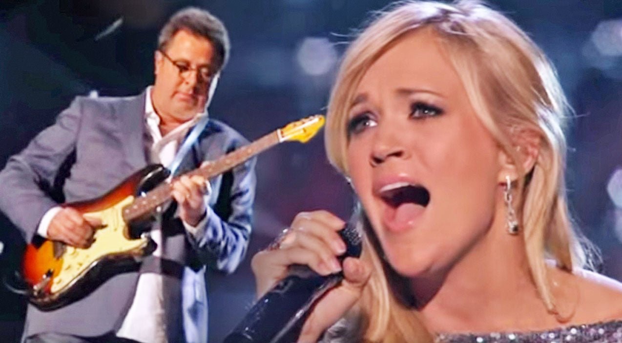 Vince gill Songs | Carrie Underwood & Vince Gill's Inspiring Rendition Of 'How Great Thou Art' Will Move You To Tears | Country Music Videos
