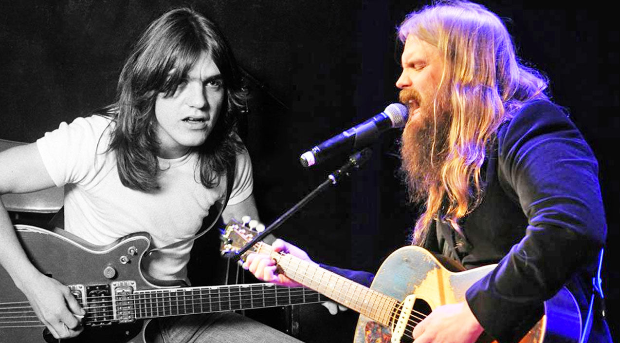 Chris stapleton Songs | Chris Stapleton Pays Tribute To The Late Malcolm Young With Somber AC/DC Cover | Country Music Videos