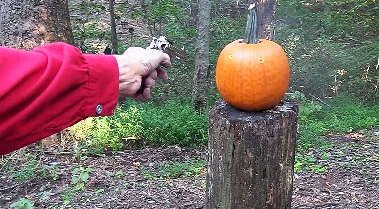 Bad Ass Cowboy Takes Pumpkin Carving To New Extreme With Colt .45 | Country Music Videos