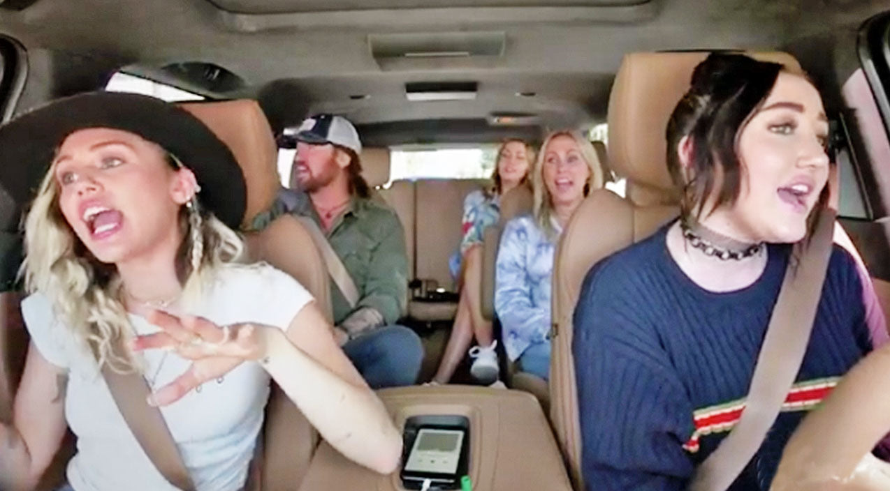 Noah cyrus Songs | Cyrus Family Dance & Sing Along To Their Biggest Hits In Epic Carpool Karaoke | Country Music Videos