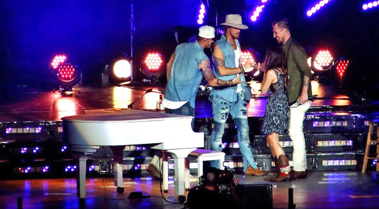 Tyler hubbard Songs | Florida Georgia Line Helps Surprise Woman With Tear-Jerking Onstage Proposal | Country Music Videos