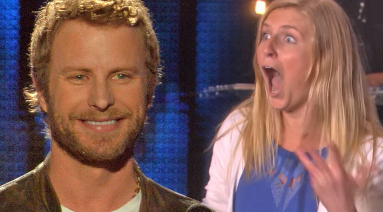Dierks bentley Songs | Dierks Bentley Gets Hilariously Attacked By Excited Fan | Country Music Videos