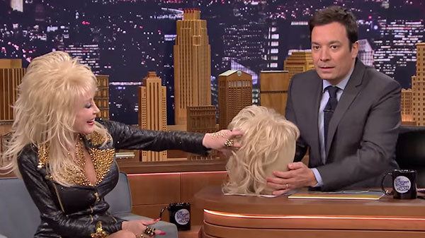 Dolly parton Songs | Dolly Parton - Jimmy Fallon Tries on Her Wig (VIDEO) | Country Music Videos