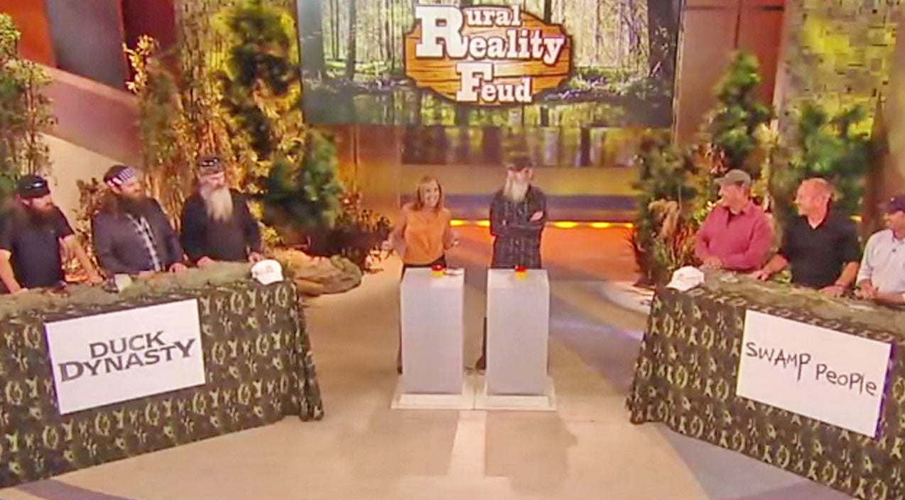 Duck dynasty Songs | 'Duck Dynasty' Goes Against 'Swamp People' In Hysterical Family Feud Game | Country Music Videos