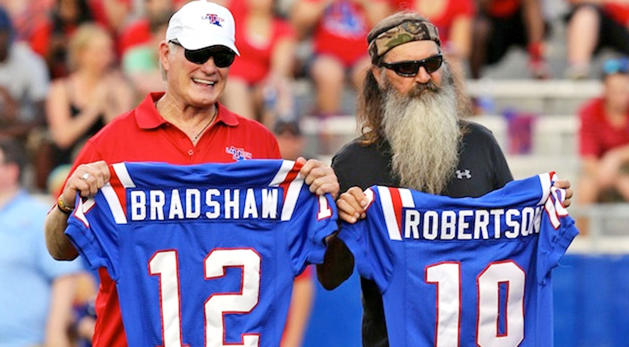 LA Tech Starting Quarterbacks, Phil Robertson And Terry Bradshaw, Reunite After 45 Years | Country Music Videos