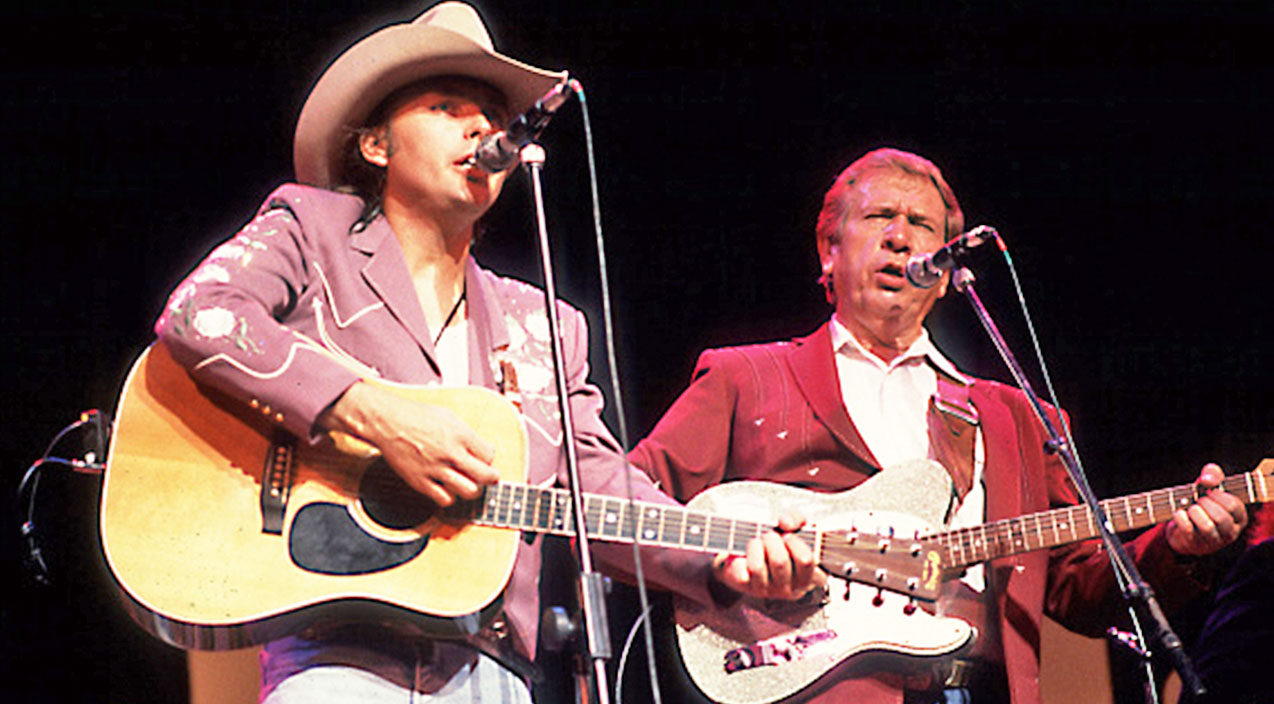 Buck Owens & Dwight Yoakam Delight Crowd With 'Streets of Bakersfield' | Country Music Videos
