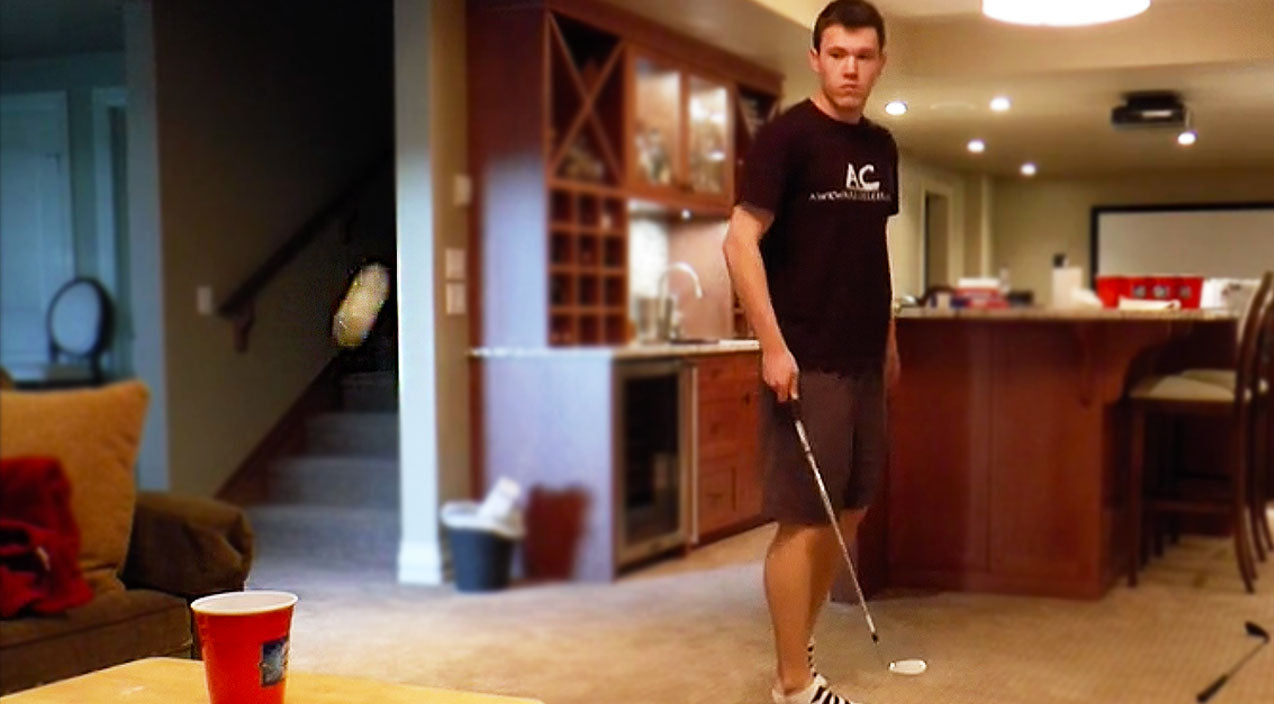 Guy Effortlessly Makes Epic Beer Pong Shot With Golf Club | Country Music Videos