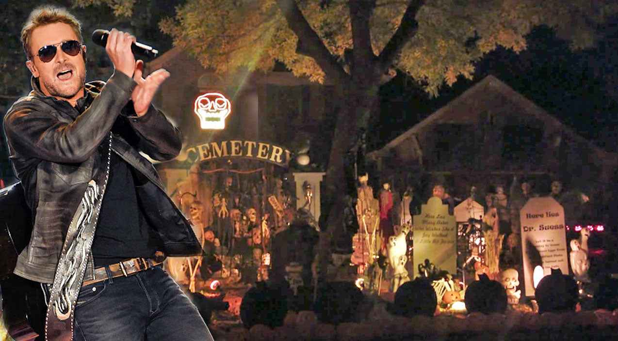 Eric church Songs | 'Creepin'' Light Show Synced To Country Megahit Wins Halloween | Country Music Videos