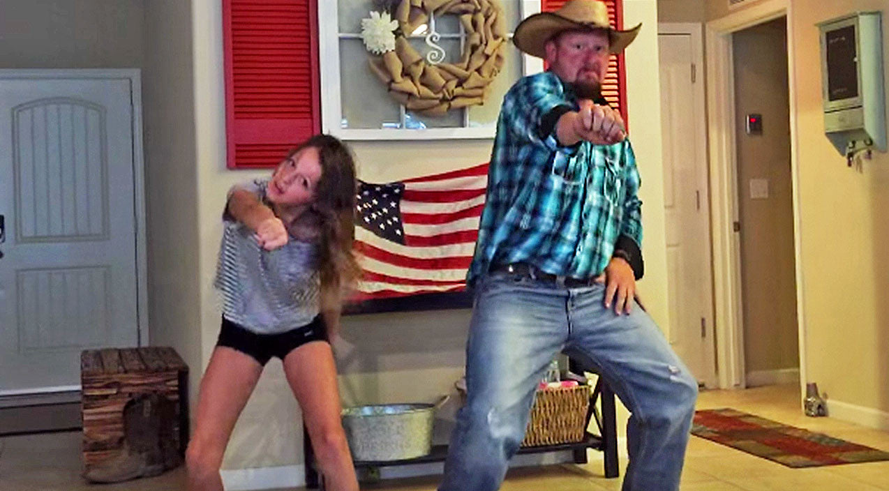 Viral content Songs | Hysterical Cowboy Dad Busts A Move With Daughter For Epic Dance Off | Country Music Videos