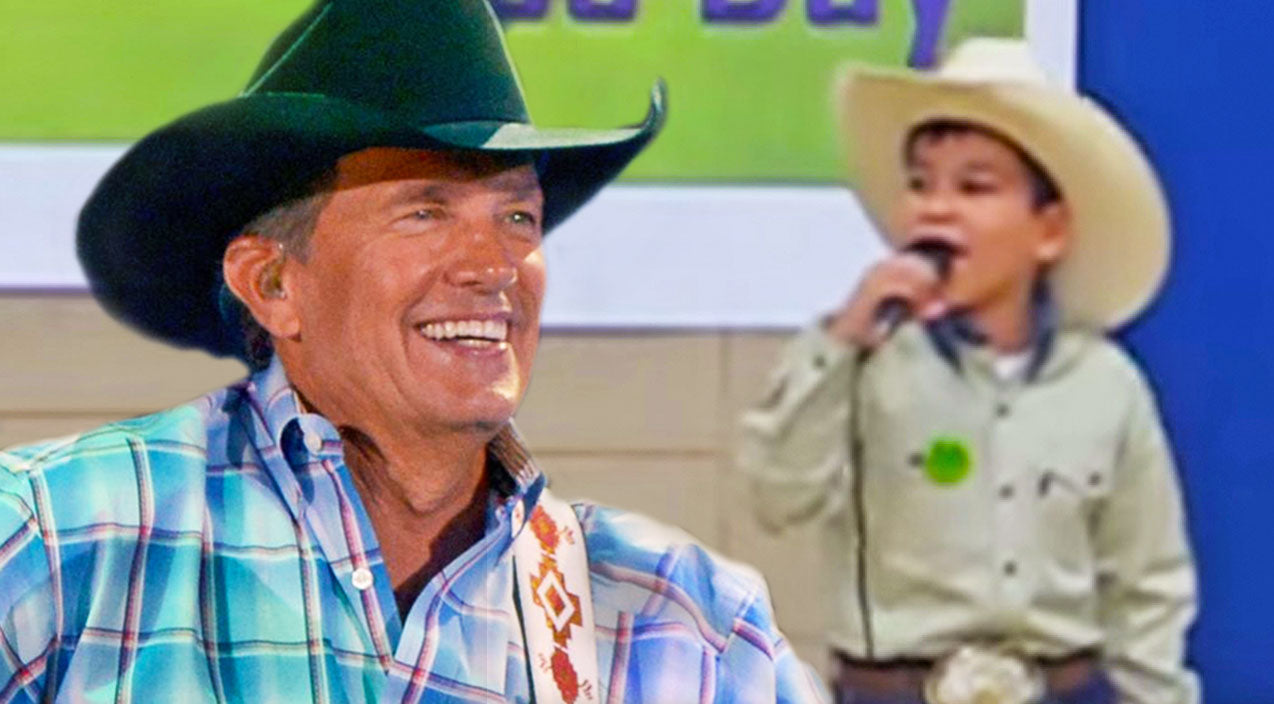 George strait Songs | Little Cowboy Shows His Dad How To Be A Real Troubadour | Country Music Videos