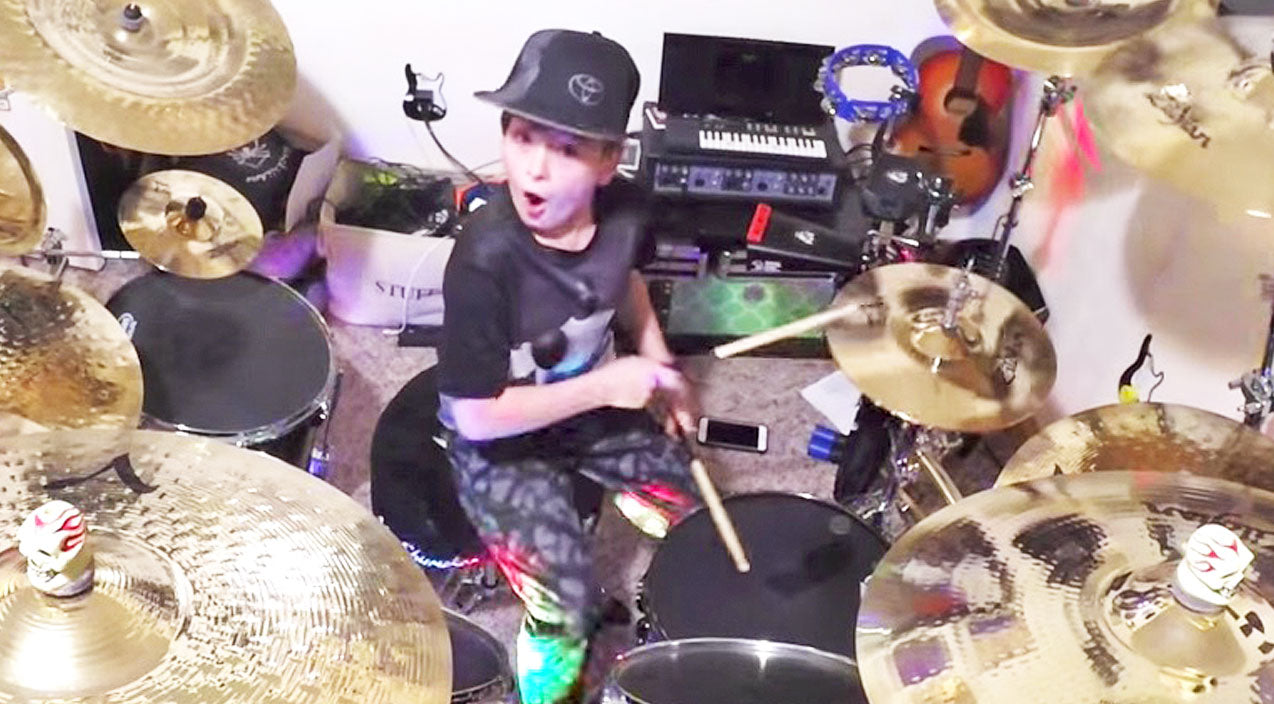 Keith urban Songs | Wickedly Talented 10-Year-Old Sets Drums On Fire With Keith Urban & Carrie Underwood's 'The Fighter' | Country Music Videos