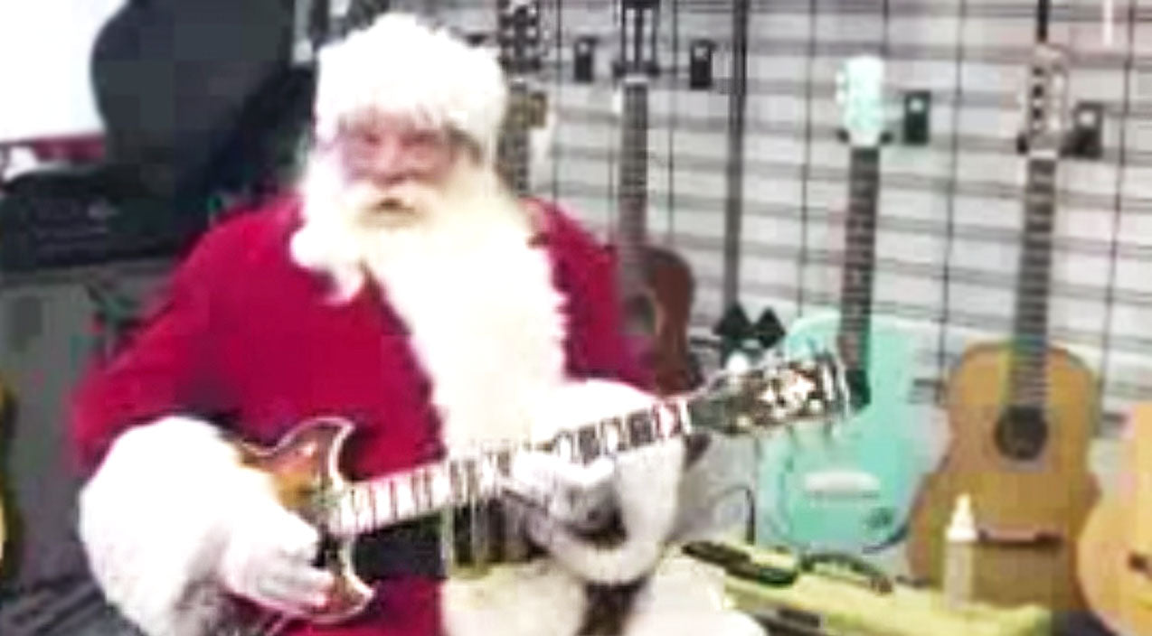 Lynyrd skynyrd Songs | Santa Teaching You How To Play 'Free Bird' Is The Best Christmas Present Ever | Country Music Videos