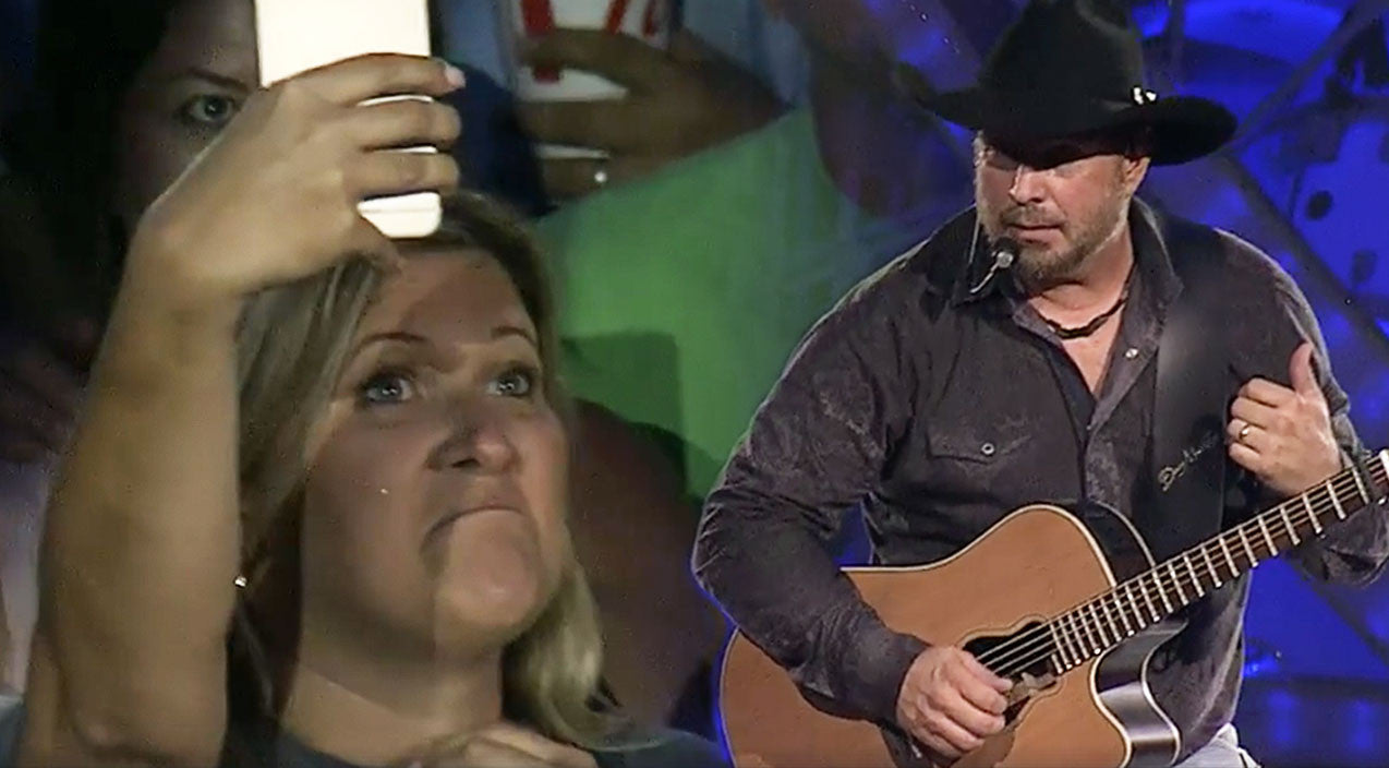 Modern country Songs | Fan's Sign Prompts Garth Brooks To Halt Concert & Confront Her | Country Music Videos