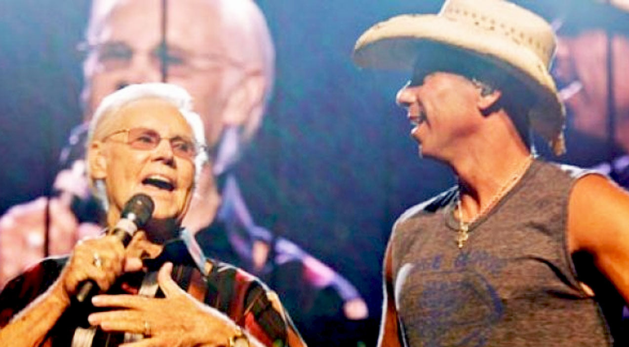 Modern country Songs | George Jones Surprises Kenny Chesney On Stage With 'He Stopped Loving Her Today' | Country Music Videos
