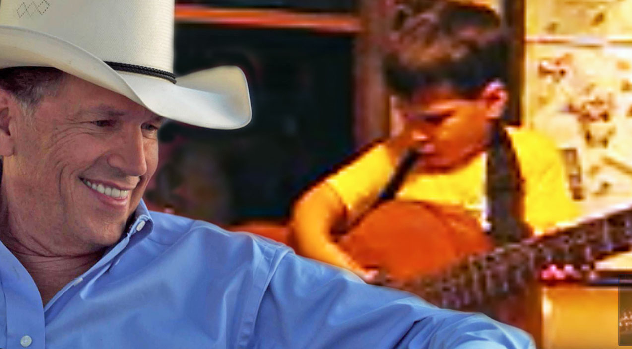 George strait Songs | Father & Son Get 'Strait' Up Adorable In 'Amarillo By Morning' Duet | Country Music Videos