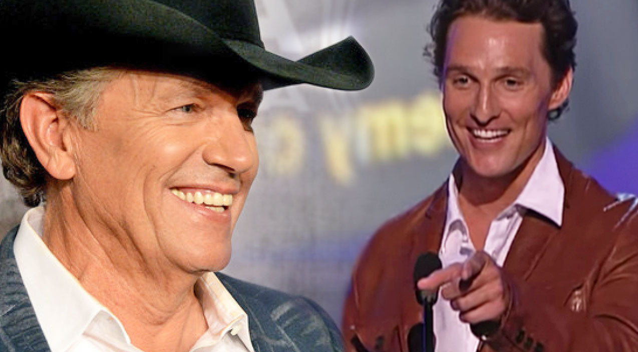 George strait Songs | Matthew McConaughey Jokes About Designing George Strait's Boots! (WATCH) | Country Music Videos