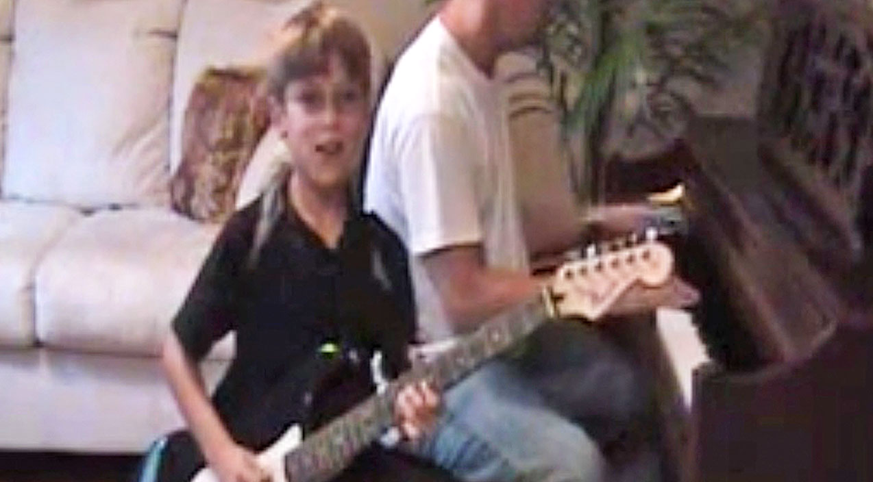 Lynyrd skynyrd Songs | Little Boy Aims To Win The Hearts Of Skynyrd Fans With 'Gimme Three Steps' Guitar Cover | Country Music Videos