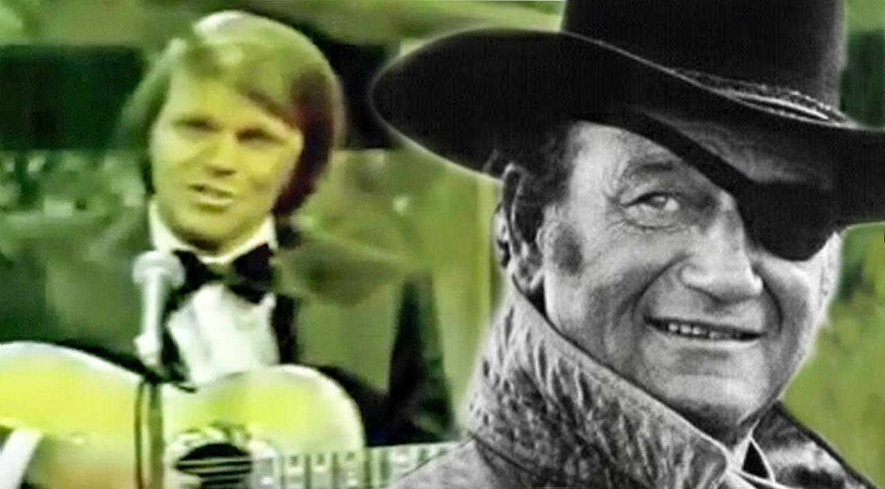 John wayne Songs | Glen Campbell Pays Tribute To John Wayne With Moving Performance Of 'True Grit' | Country Music Videos