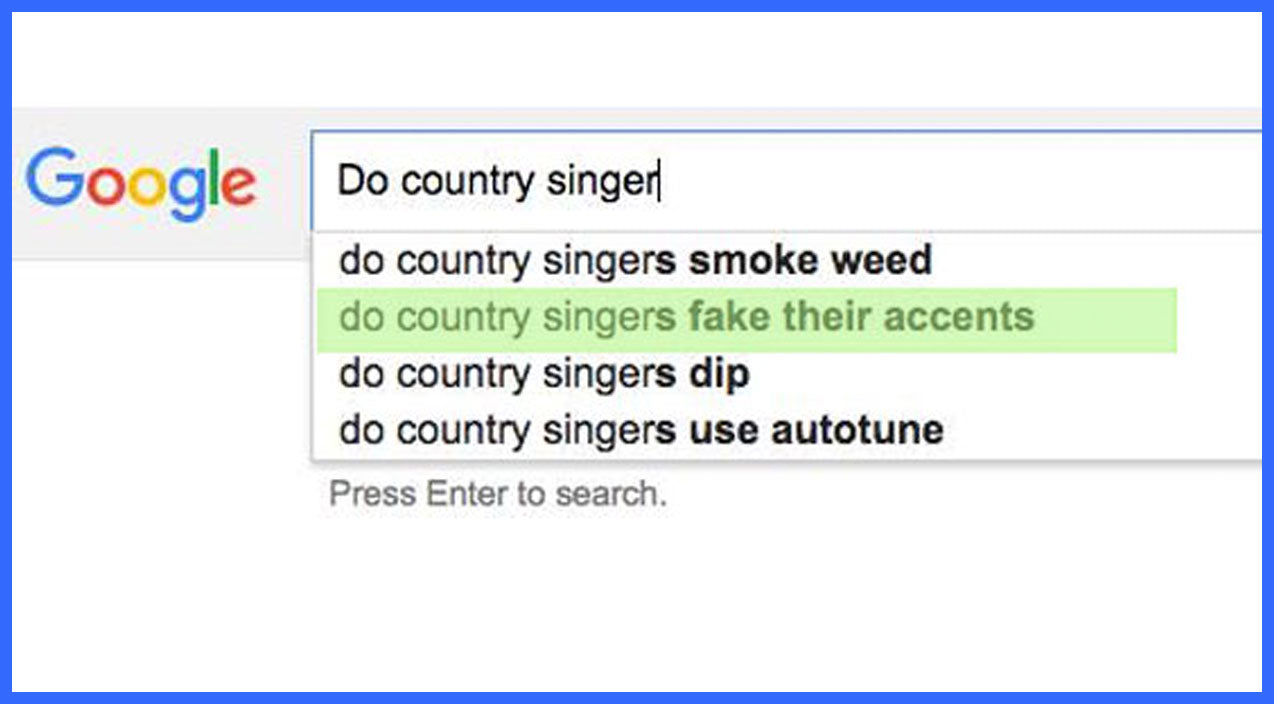 12 Of The Most RIDICULOUS Google Suggestions About Country Music | Country Music Videos
