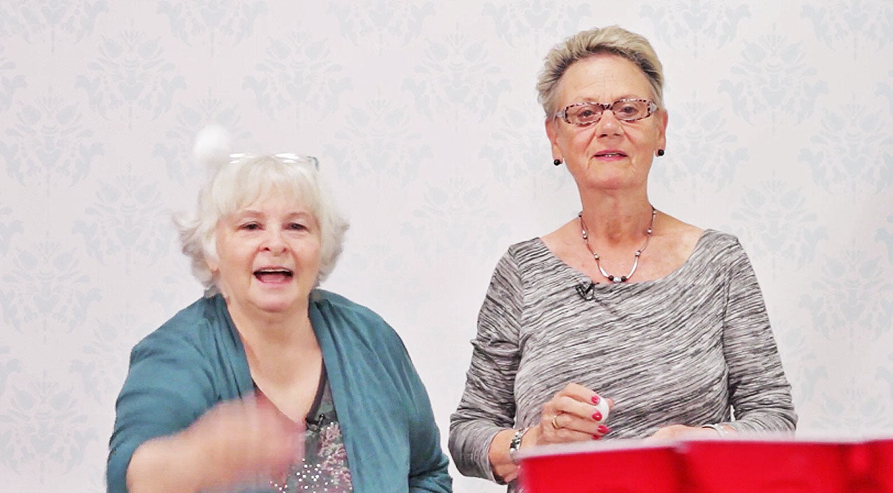 Grandmas Attempt To Play Beer Pong, And It's Hysterical | Country Music Videos