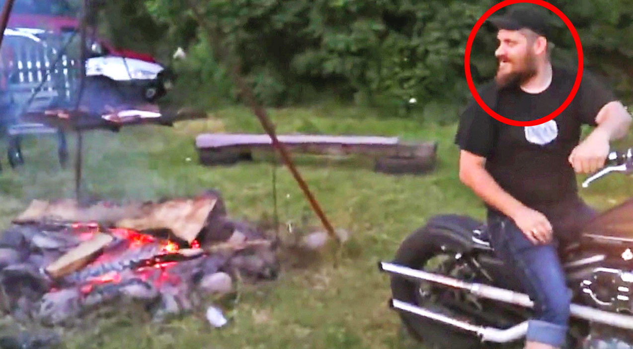 Country Folks Have Trouble Starting Bonfire, Now Watch The Guy On The Harley... | Country Music Videos