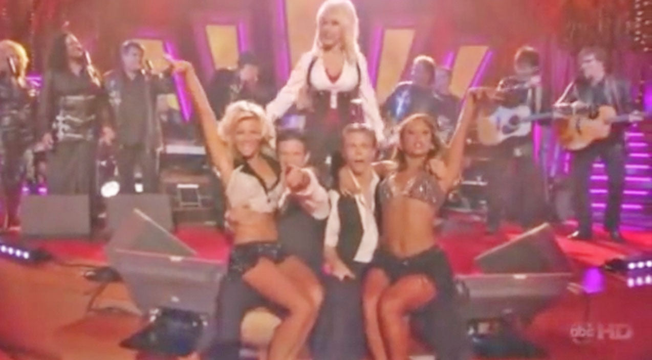 Julianne hough Songs | Dolly Parton Leads The Houghs & 'DWTS' Pros In Red Hot Dance To '9 To 5' | Country Music Videos
