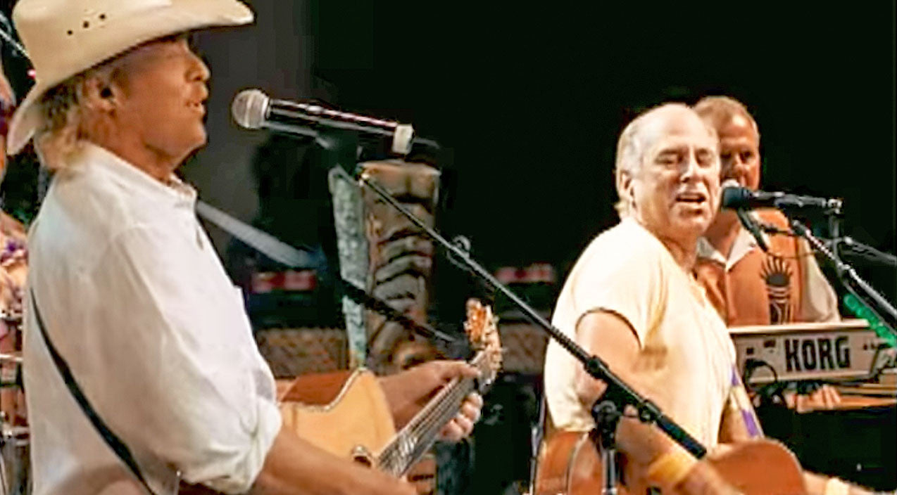 Jimmy buffett Songs | Jimmy Buffett & Alan Jackson Say Bottoms Up With Tropical 'It's 5 O'Clock Somewhere' | Country Music Videos