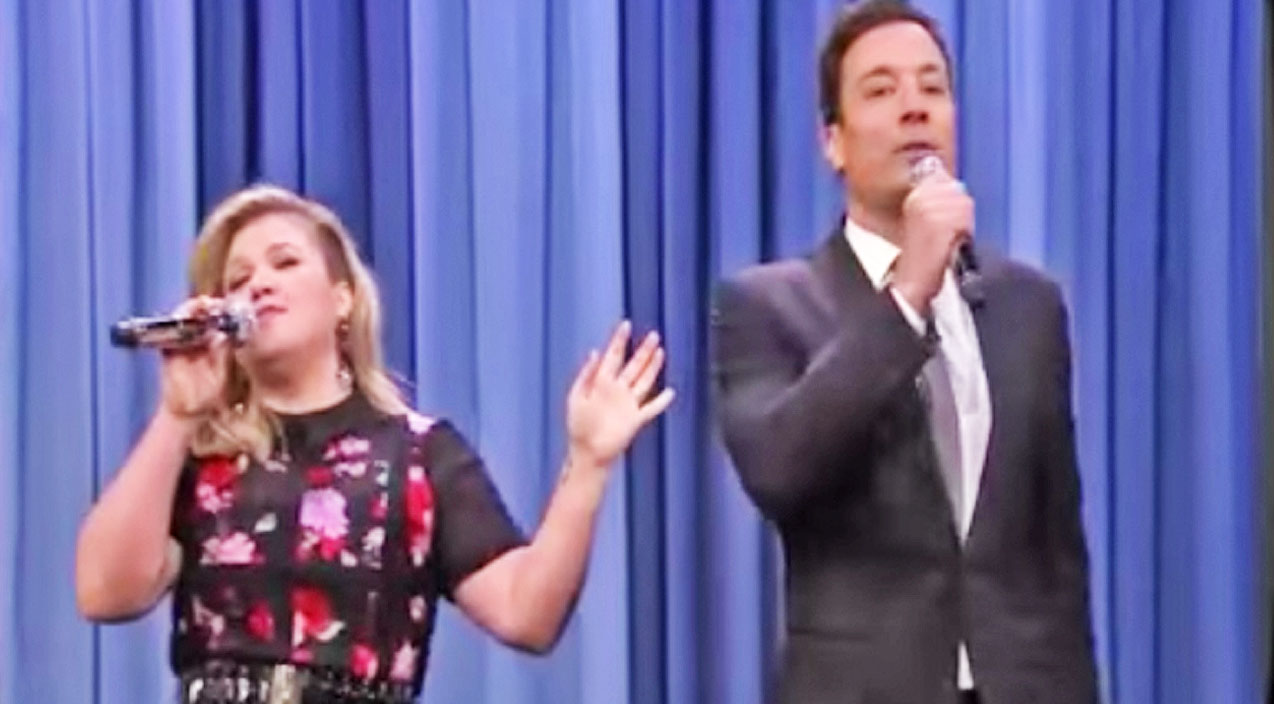 Kenny rogers Songs | Kelly Clarkson and Jimmy Fallon Sing 'Islands In The Stream' & Other Famous Duets | Country Music Videos