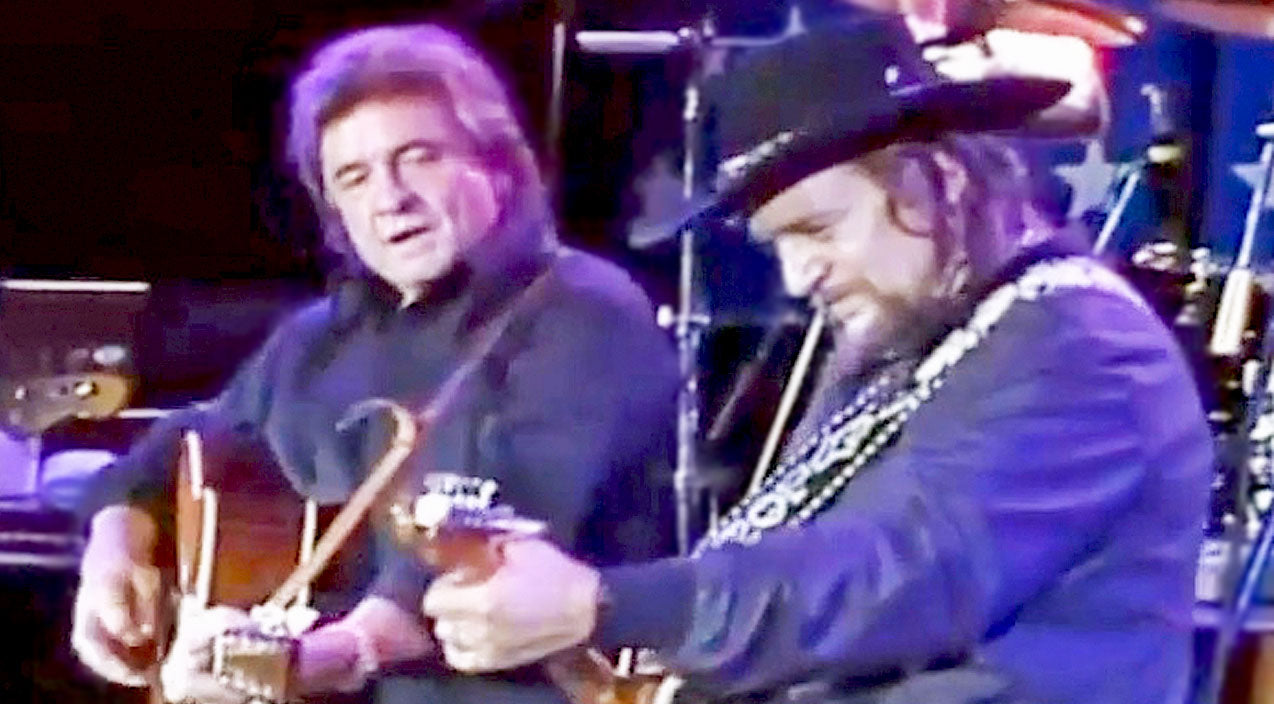 Waylon jennings Songs | Waylon Jennings Joins Johnny Cash For Rowdy Rendition Of 'Folsom Prison Blues' | Country Music Videos