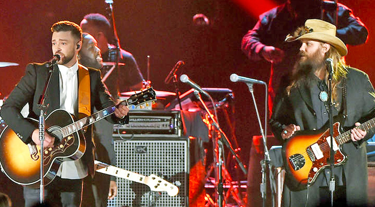 Justin timberlake Songs | Chris Stapleton & Justin Timberlake Pay Tribute To George Jones With 'Tennessee Whiskey' | Country Music Videos