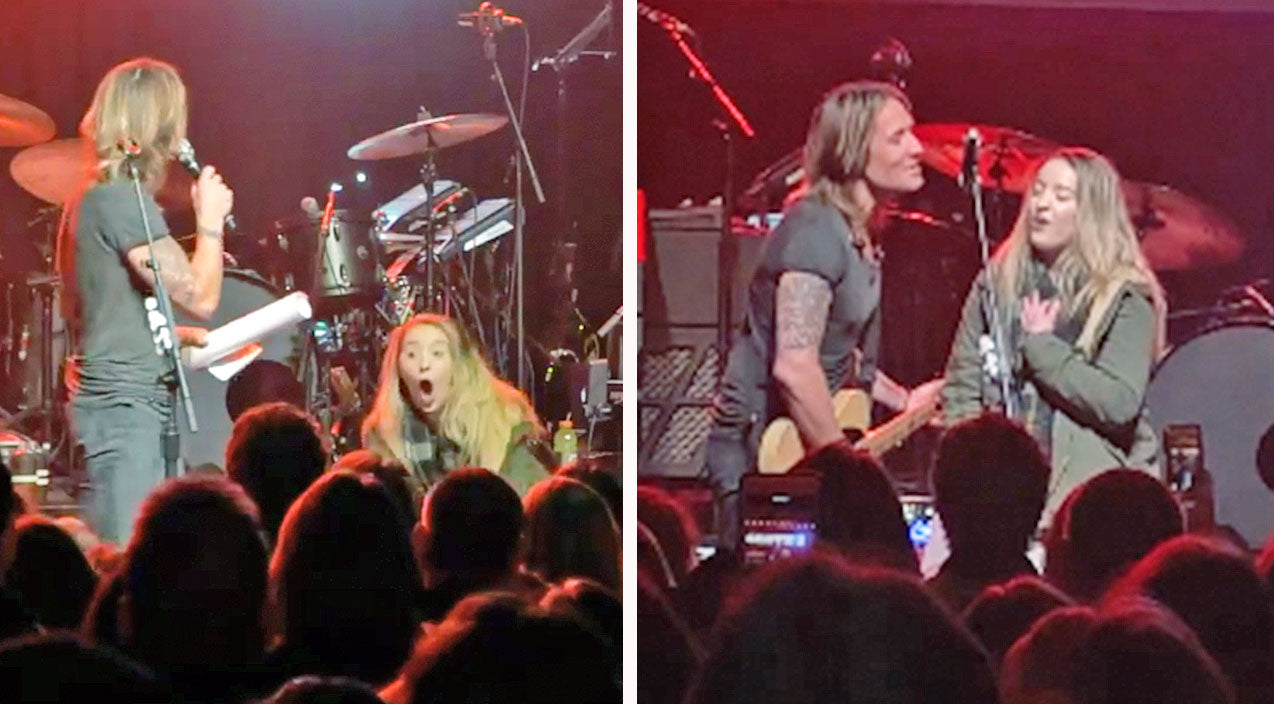 Keith urban Songs   Keith Urban Brings Unsuspecting Fan On Stage For Impromptu Duet   Country Music Videos