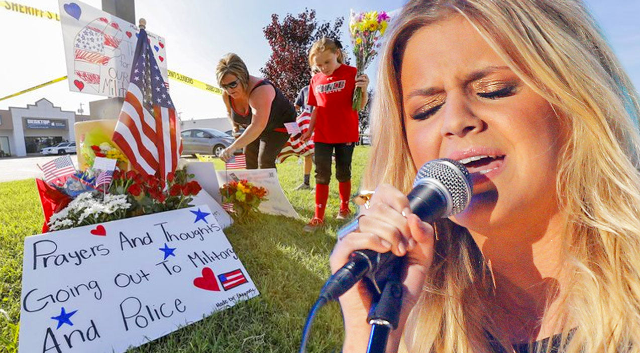 Kelsea ballerini Songs | Country Singer Pays Tribute To Chattanooga Shooting Victims With Emotional 'Amazing Grace' Performance | Country Music Videos