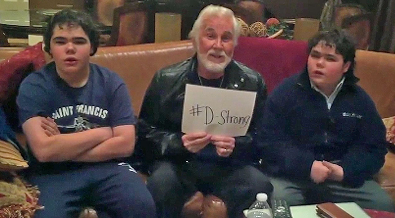 Kenny rogers Songs | Kenny Rogers And His Twin Boys Encourage Support For 8-Year-Old Cancer Patient | Country Music Videos