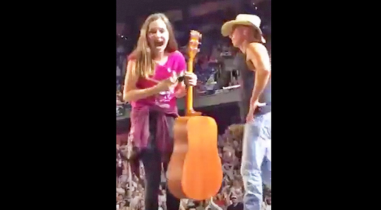 Kenny chesney Songs | Kenny Chesney Gives Young Girl His Guitar, But What He Gives Her After? PRICELESS. | Country Music Videos